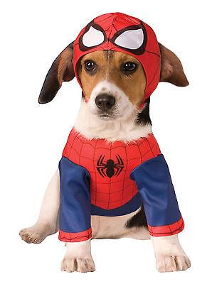 Hund Spiderman Kostüm (Gr. S SPIDERMAN für HUNDE Hundekostüm Marvel Avengers DC Comics Kostüm Lizenz)
