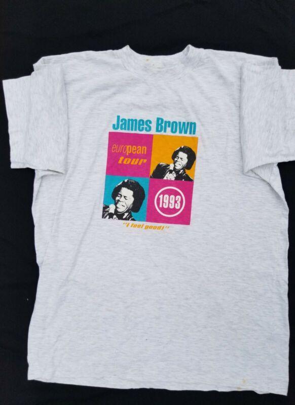 "1993 James Brown European Scandinavian Tour ""I Feel Good"" vintage Short Sleeve T"