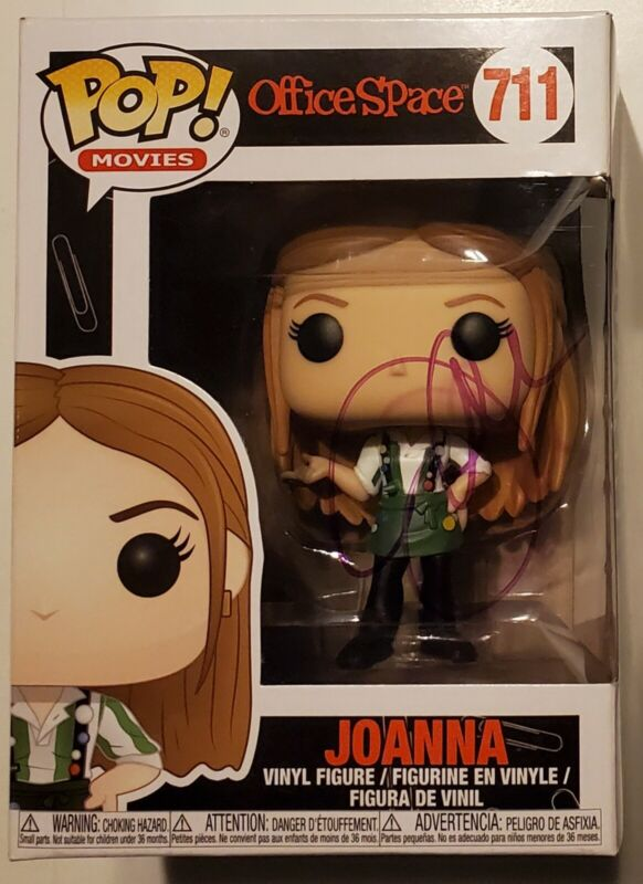 Jennifer Aniston Signed Office Space Joanna Funko Pop 711 IP Auto