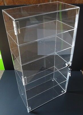 Acrylic Counter Top Display Case 12.5x 7 X22.5locking Cabinet Showcase Boxes