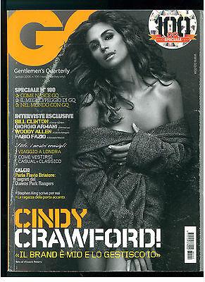 GQ ITALIA 100 GENNAIO 2008 CINDY CRAWFORD GIORGIO ARMANI WOODY ALLEN QUEENS PARK