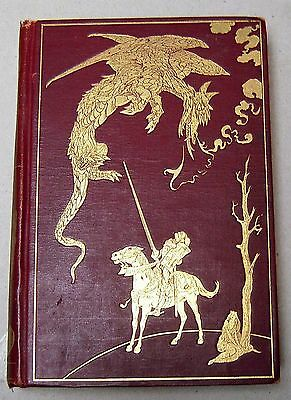 1905 Andrew Lang FAIRY BOOK with gilt pictorial dragon on front cover RED BOOK