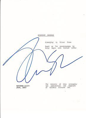 Midnight Express Oliver Stone Signed Full 110 Page Script Autograph Proof Coa