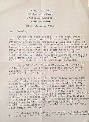 NORMAN GINSBURY PLAYWRIGHT SIGNED LETTER TO SEWELL STOKES