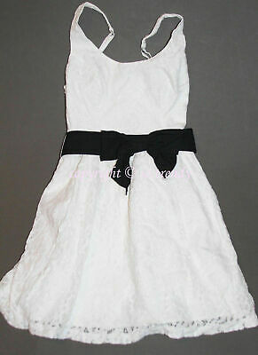 🌸 NWT HOLLISTER by Abercrombie Womens Spring Sun White Floral Lace Dress L
