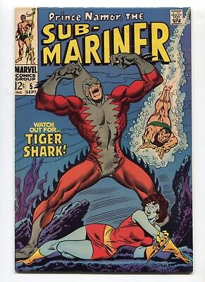 1968 MARVEL SUB-MARINER #5 1ST APPEARANCE TIGER SHARK  VERY FINE- E5