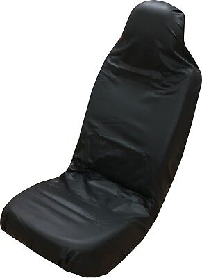 Universal Black Leather Front Car Seat Covers Airbag Compatible - Hard Wearing