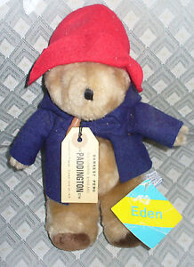 VTG 10 INCH PLUSH TEDDY PADDINGTON BEAR 1984 NWT EDEN DARKEST PERU OLD TOY RARE