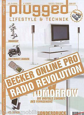 Becker Online Pro Navigations-Autoradio Test im Sonderdruck plugged 2001 5/01