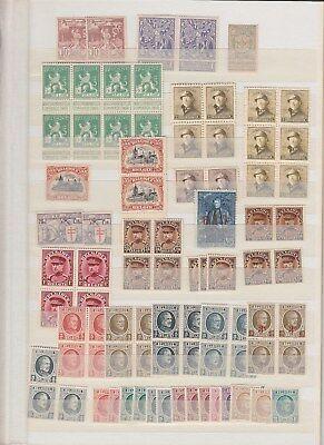 BELGIUM small MNH stock/blocks (CV $600 EUR500)