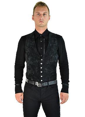SHRINE GOTHIC ARISTOCRAT VAMPIRE VEST JACKET VICTORIAN VELVET PIRAT STEAMPUNK Clothing, Shoes & Accessories