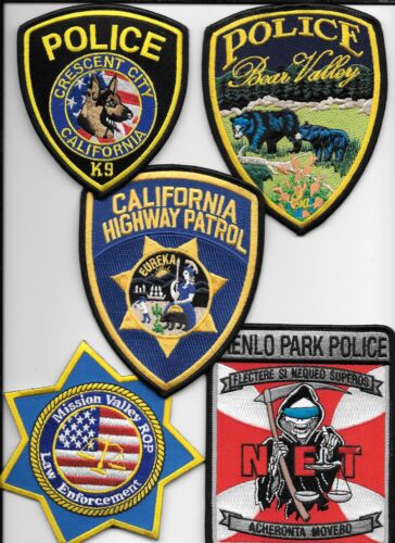 Clearance:  California - 5 Patch Set - # 3 shoulder police patch (fire)