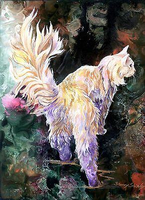 FANCY BRITCHES 8x10  CAT Art Print by Sherry Shipley
