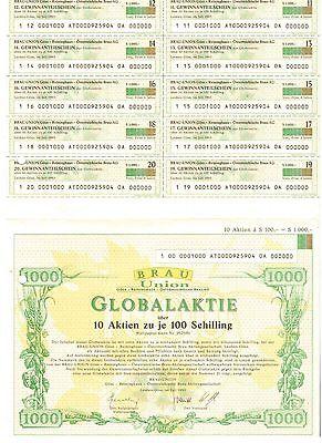 Brau Union  Göss Reininghaus Österreichische Brau AG  1993  Globalaktie