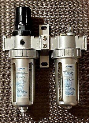 Nanpu Air Filter Pressure Regulator Lubricator Dryer Gauge Kit 38 Npt