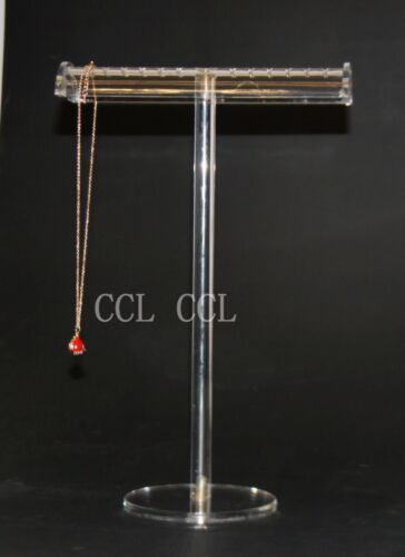 Luxury Large Clear Necklace/Bracklace Jewellery T Bar Display Stand Holder