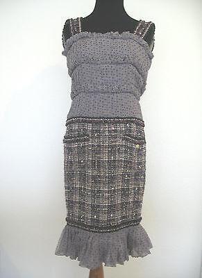 NWT CHANEL Dress Classic Tweed Sillk Ruffles Stars GORGEOUS!! Size 34