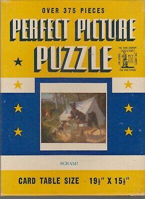 Perfect Picture Puzzle Vintage Jigsaw Puzzles--Scram-----139