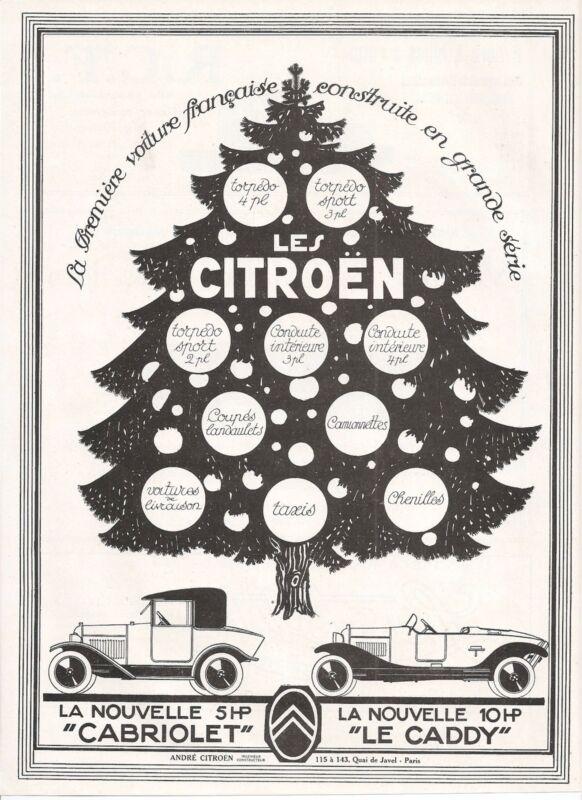 AUTOMOBILE FRENCH MAGAZINE AD 1922 CITROEN