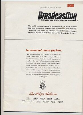 Broadcasting Magazine  November 22 1971 Business Weekly of Television and Radio