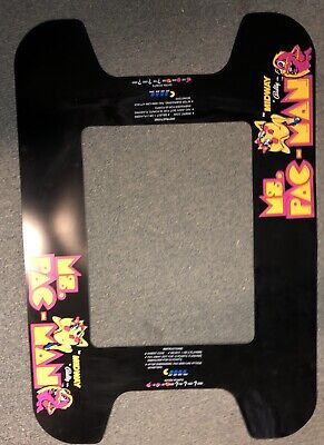 1980 MIDWAY MS. PAC MAN COCKTAIL TABLE Original UNDERLAY by NAMCO