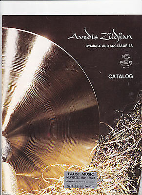 VINTAGE MUSICAL INSTRUMENT CATALOG #10492 - ZILDJIAN CYMBALS & ACCESSORIES