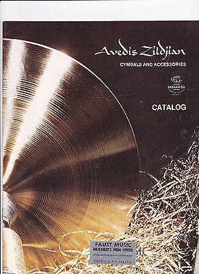 VINTAGE MUSICAL INSTRUMENT CATALOG #10492 - ZILDJIAN CYMBALS & ACCESSORIES