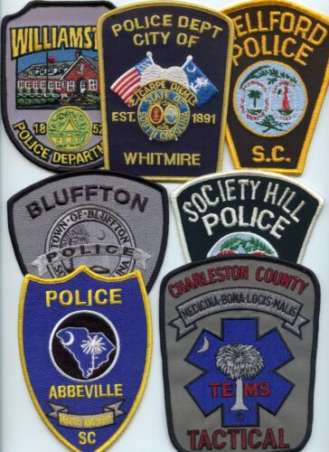 SOUTH CAROLINA POLICE PATCH COLLECTORS SPECIAL 7 Police Patches POLICE PATCH