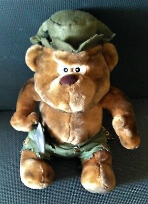 "MEANIES AT LARGE Burny the Bear Large 17"" PLUSH MWMT RARE Spoof of Smokey"