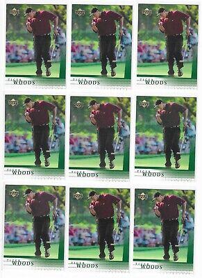 TIGER WOODS 2001 UPPER DECK UD GOLF #1 ROOKIE RC LOT OF 27