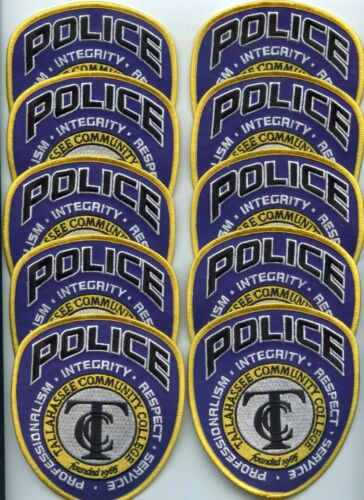 TALLAHASSEE COMMUNITY COLLEGE FLORIDA Trade Stock 10 Police Patches POLICE PATCH