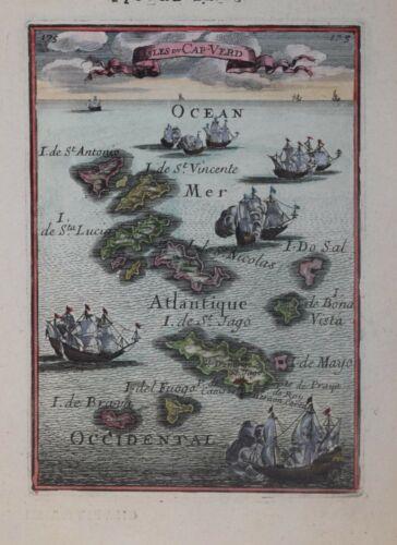 CAPE VERDE - ISLES DU CAP-VERDE BY MALLET, 1683.