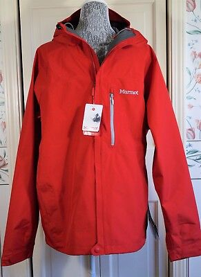 NEW Men's MARMOT Gore-Tex Optima Hoody Jacket RED 91860 Size