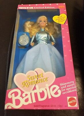 """New Sealed 1991 Sweet Romance Barbie Doll 11"""" Toys R US Limited Edition Mattel"""