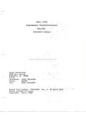 Sound Technology 3200b Programmable Audio Analyzer Operators Manual Pdf Freeship