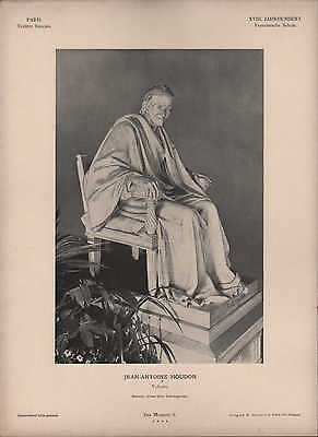 Paris, Lithografie: XVIII. Jh. Franz. Schule VOLTAIRE. Jean-Antoine Houdon Marmo
