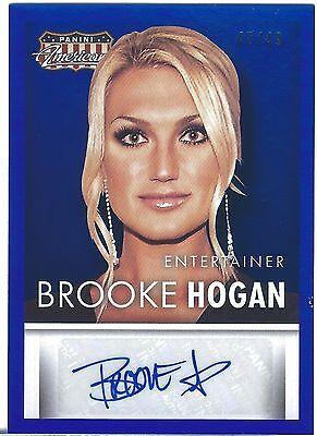 BROOKE HOGAN 2015 Panini AMERICANA BLUE Foil AUTO Autograph #d/49 Hulks Daughter