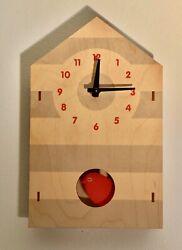 Modern Moose Birdhouse redbird pendulum wall or shelf Clock
