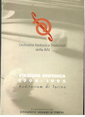 ORCHESTRA SINFONICA DI TORINO STAGIONE SINFONICA DELLA RAI 1994 1995