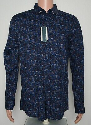 Perry Ellis #8544 NEW Men Button Front Long Sleeve Slim Fit Stretch Shirt $79.50