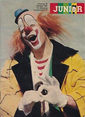 Junior Kundenzeitschrift Oktober 1981, Schminken/sich verändern-Badminton-Comics