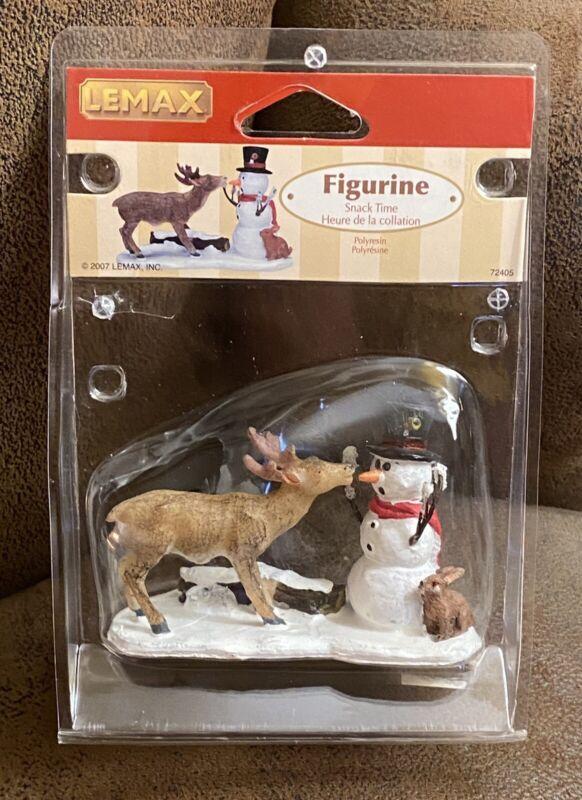 Lemax Figurine Snack Time Christmas Village 72405 Deer Snowman