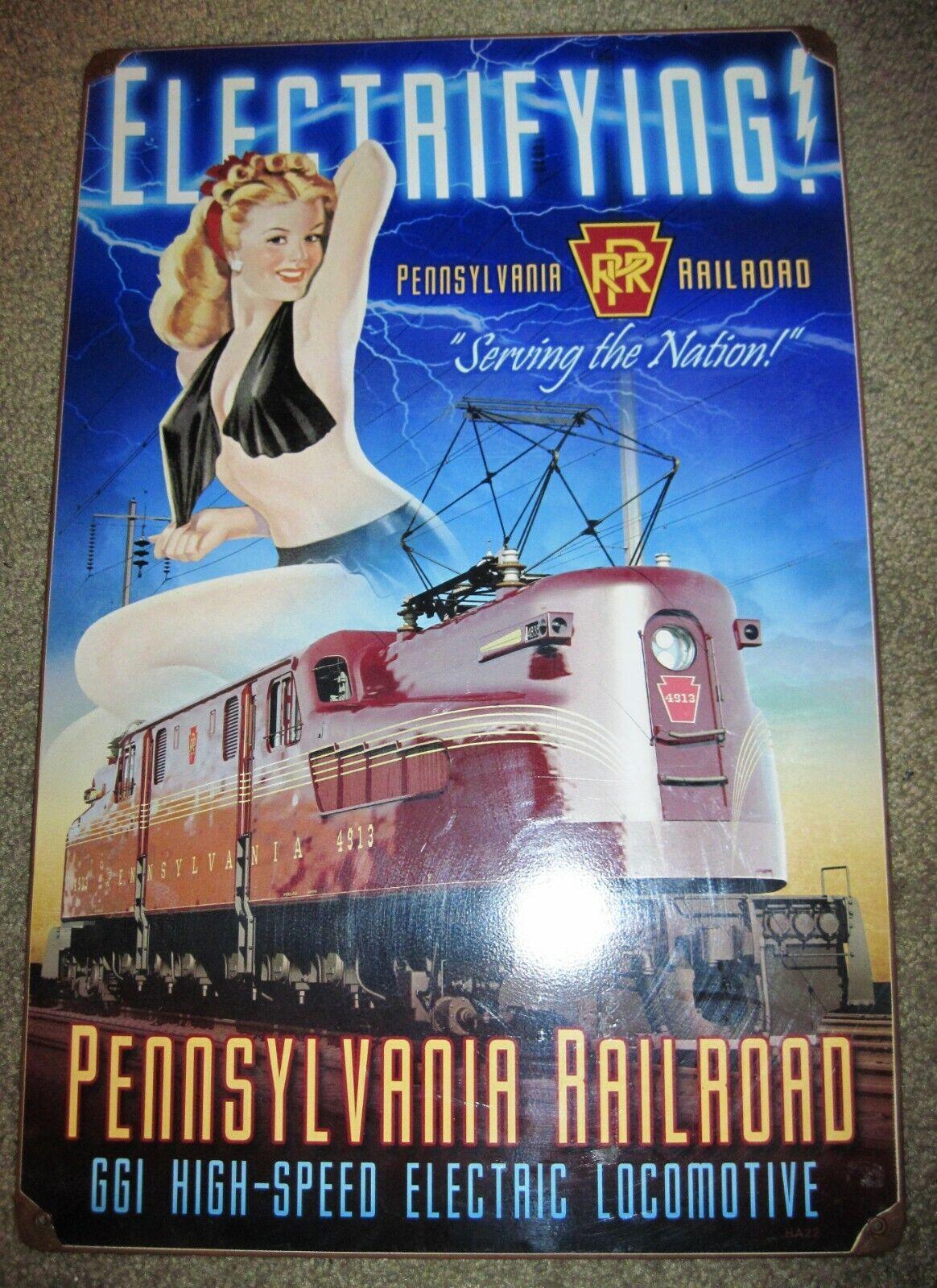Repro Vintage Pennsylvania Railroad GG-1 Electrifying railroad picture 11 x 17