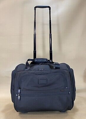 Preowned Tumi Alpha 2 Black Wheeled Compact Duffle CarryOn Weekender Bag 22052D2