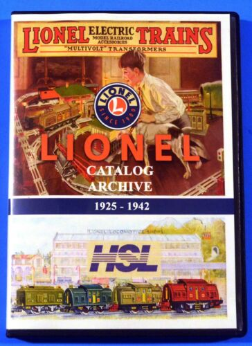 Lionel 1925-1942 Consumer Catalogs Digital Archive on CD ROM HSL