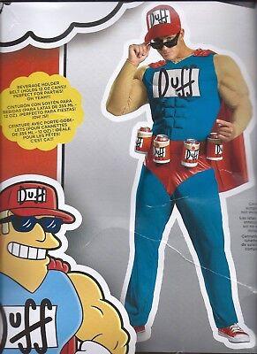 SIMPSONS DUFFMAN HALLOWEEN COSTUME - Duff Man Halloween Costume