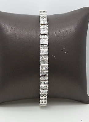 Zales Luxury 4CT Diamond Tennis Bracelet 14K White Gold