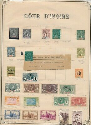 IVORY COAST: 77 STAMPS, MINT AND USED FROM EARLIEST COLONIAL TIMES TO 1970s