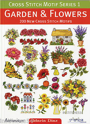 DMC Cross Stitch Motif Series 1 Chart Book  Garden And Flowers