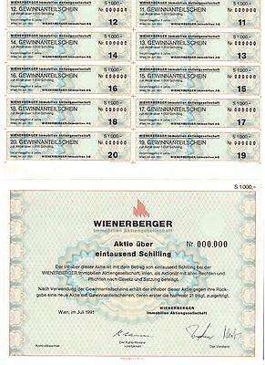 Wienenberger Immobilien AG 1991 Wien    1000 Schilling
